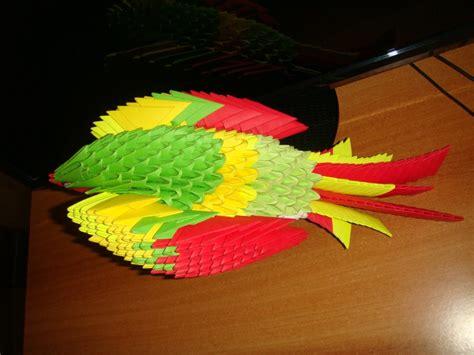 3d Origami Macaw - parrot album trusha 3d origami