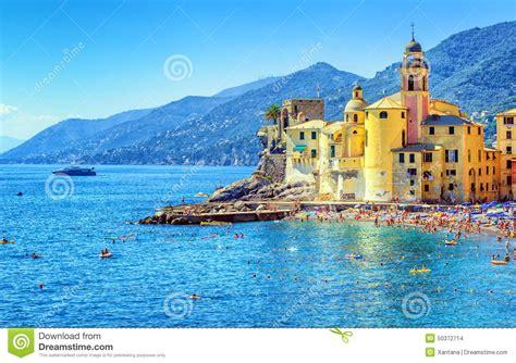 genoa sea camogli near genova italy stock photo image 50372714