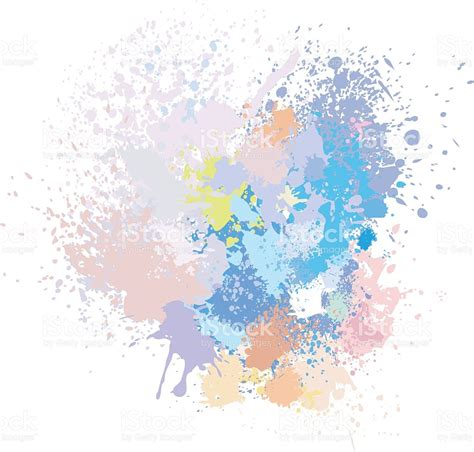 pastel background of paint splashes stock vector 509411264 istock