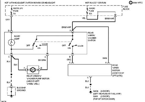 97 chevy s10 wiper motor schematic autos post