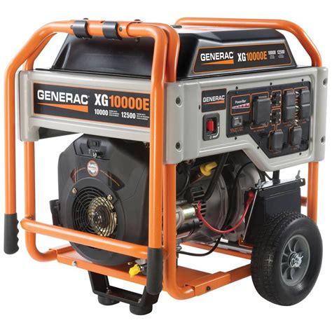 generac xg 10 000 watt gasoline powered portable generator