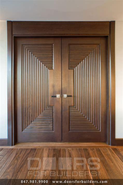Wood Interior Door Custom Interior Transitional Solid Wood Custom Ridges Custom Wood Interior Doors