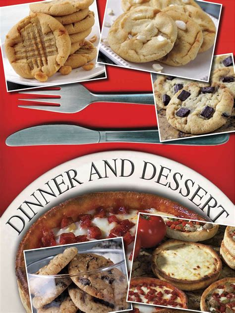 desserts for dinner pizza for dinner cookies for dessert