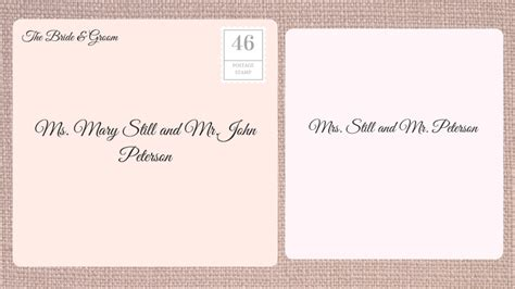 How To Address A Wedding Card