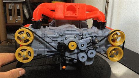 flat four subaru this 3d printed subaru flat four engine is deeply satisfying
