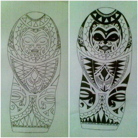 polynesian face tattoo designs polynesian half sleeve design with