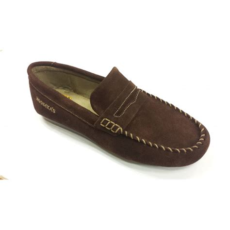 moccasins house shoes 6278 afelpado brown suede moccasin slipper