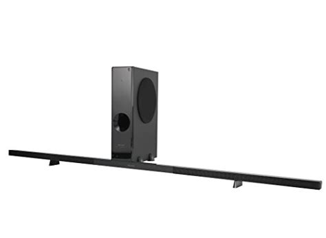 sharp ht sl75 2 1 channel slim sound bar home theater