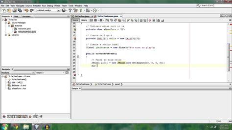 tutorial c game programming make a tic tac toe game java programming tutorial