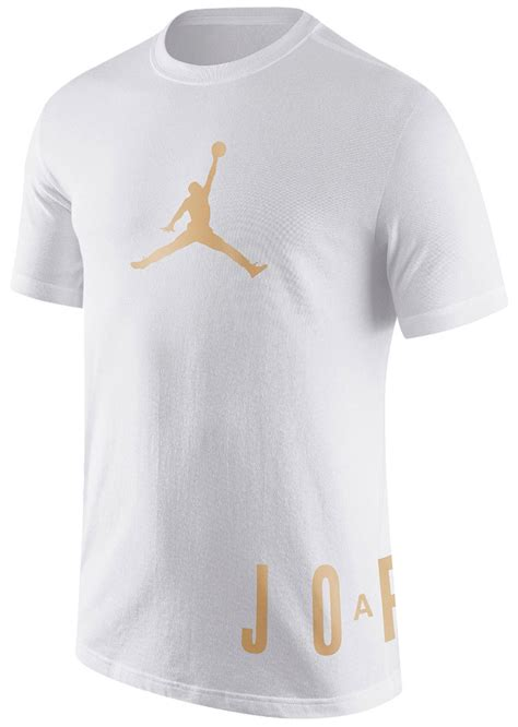 Tshirt Low And air 11 white gold shirt sneakerfits