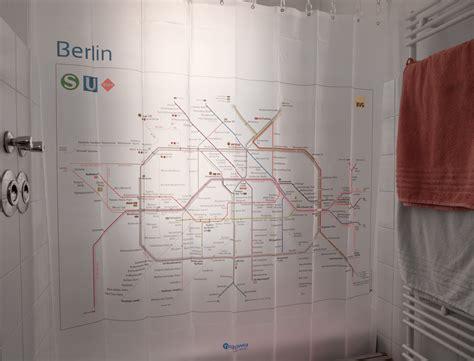 dusch vorhang netzplan duschvorhang f 252 r berliner s und u bahn
