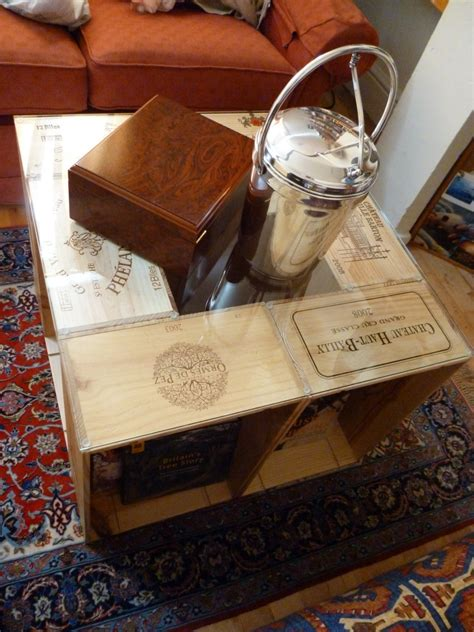 wine crate coffee table diy easy diy coffee table from wine crates offbeat home