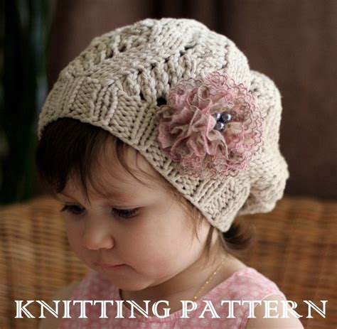 knit hats for toddlers amour slouchy hat kniting pattern toddler child