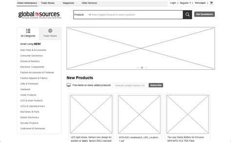 mobile app  website wireframe examples  inspiration