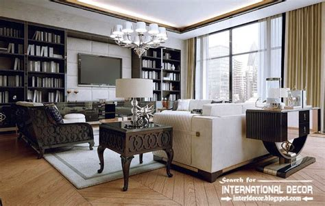 Level Furnished Living by Stylish Art Deco Interior Design And Furniture In London