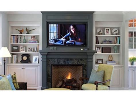 safely mount a flat screen television above a fireplace