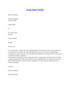 Personal Leave Of Absence Sle Letter Personal Leave Letter Format Best Template Collection