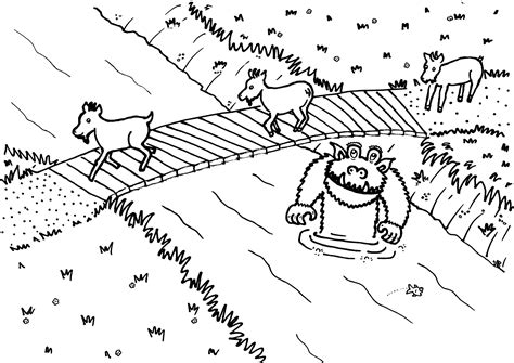 goat coloring pages kindergarten the three billy goats gruff activities for story telling
