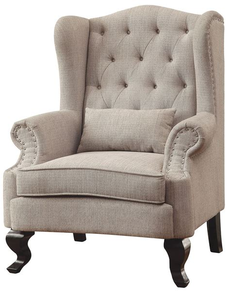 Beige Accent Chair Willow Beige Accent Chair Cm Ac6271bg Ch Furniture Of