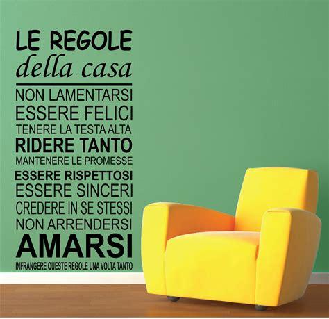 frasi su casa wall stickers adesivi murali frase le regole della casa