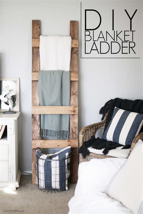 diy blanket diy blanket ladder free plans cherished bliss