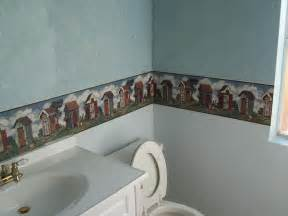 bathroom wallpaper borders house photos 187 of shame tacky d 233 cor