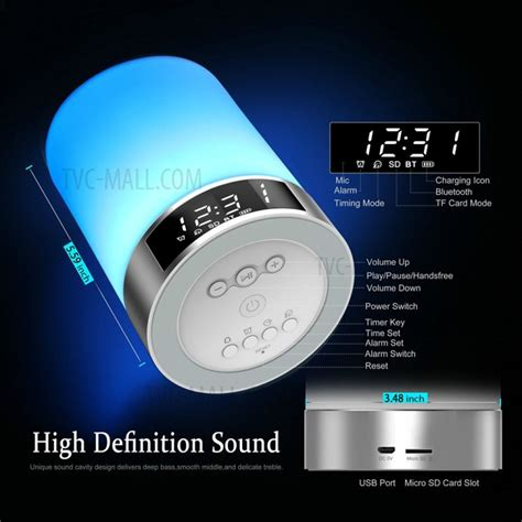 Touch Sensor Led Table L With Bluetooth Speaker 1 l5 bluetooth 4 0 speaker colorful touch sensor