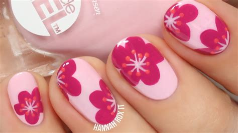 tulip flower nail art youtube pretty floral nail art youtube