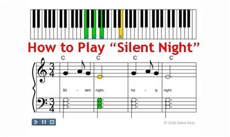 tutorial playing keyboard learn to play quot silent night quot for this holiday seasons