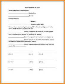 One Page Rental Agreement Template by 9 Simple One Page Lease Agreement Workout Spreadsheet