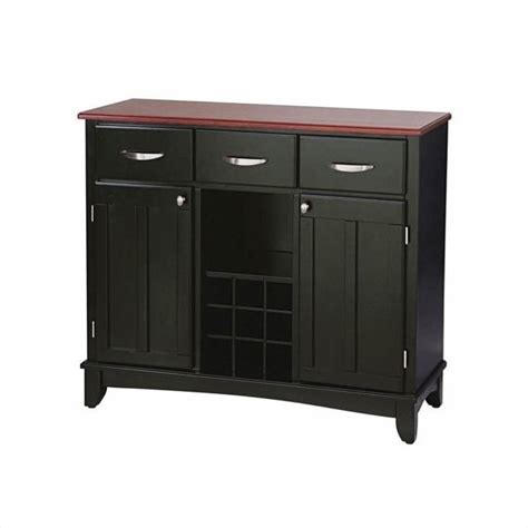 kitchen server furniture 3 drawer large wood top buffet server in black 5100 0042