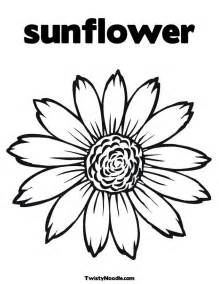 Sunflower Clip Outline by Sunflower Outline Clipart Kid 2 Cliparting