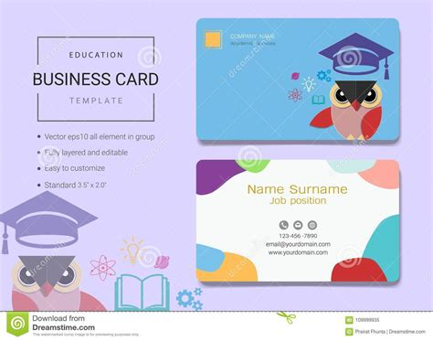 education business cards templates free free education business cards templates choice image