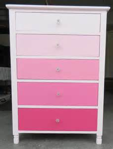 another dresser transformation from blue to pink ombr 233