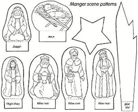 printable nativity scene characters 47 best images about mops crafts on pinterest maze