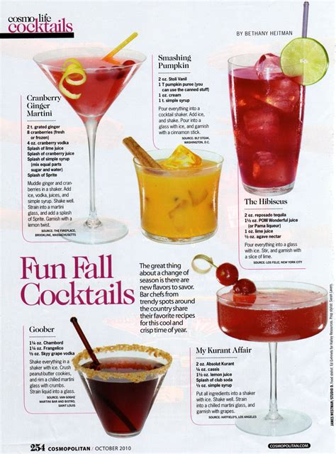 cocktail ideas fall cocktails
