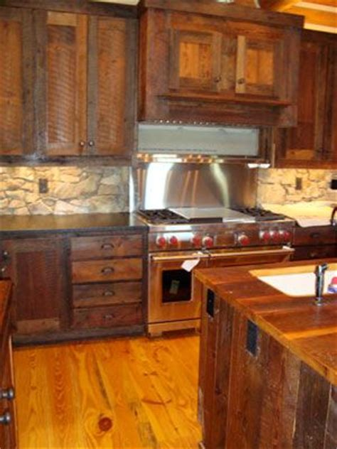 barn wood kitchen cabinets barn wood cabinets love this rustic kitchen a interior