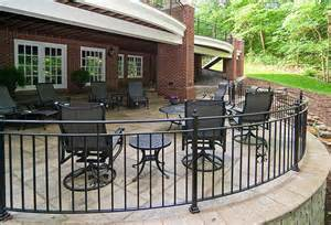Patio Handrail by Porch And Patio Railings