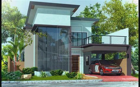 Modern House Exterior modern two storey house plans garage modern house design