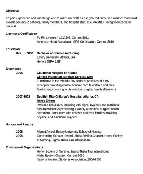 new grad rn resume sle resume and resume templates