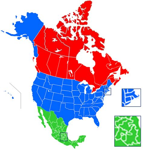 america  canada map  travel information