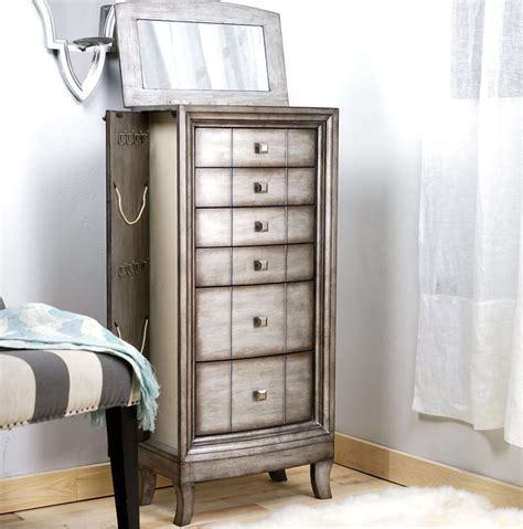 jewelry armoire silver natalie jewelry armoire silver leaf hives and honey