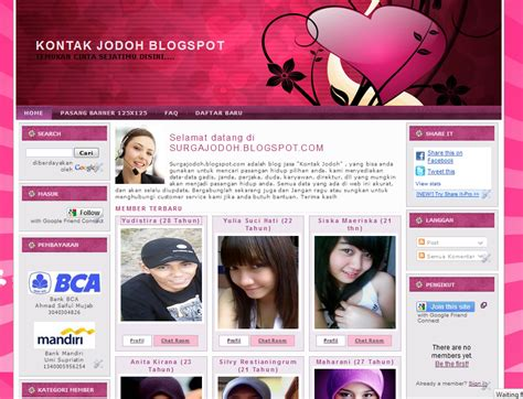 membuat website kontak jodoh bloggerdesign script kontak jodoh blogspot v 1 0
