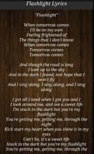 flash light lyrics picture suggestion for j flashlight lyrics