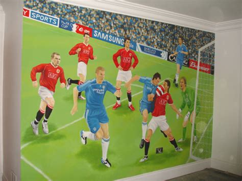 Wall Murals For Home football wall mural