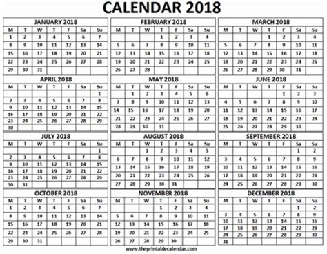 4 Calendars On One Page Calander On One Page 2018 2018 Calendar Template Design