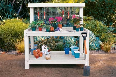 make a potting bench how to build a potting bench this old house
