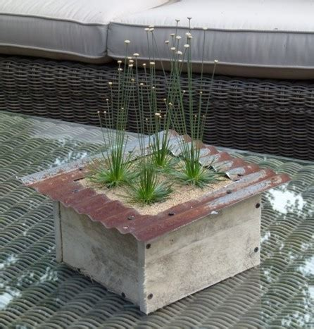 Tabletop Planter Boxes by Corrugated Tabletop Planter Box