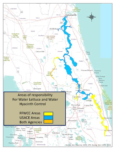 st river map st johns river cisma support florida invasive species partnership