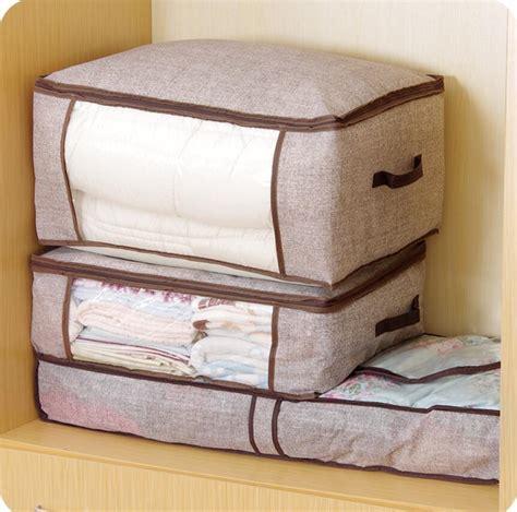 Organizer Penyimpan Baju Storage Bag aliexpress buy organizador bag imitative linen storage bag dustproof bedding closet